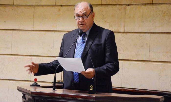 Cesar Maia no plenário da Câmara de Vereadores